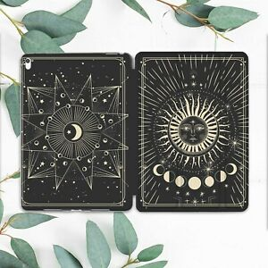 Goth Sun Dark Moon Phases Case For iPad Pro 12.9 11 10.5 10.2 9.7 Air Mini 5 4 2