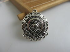 5pcs Antique Silver Charm Pendants Necklace Earring Connector For Jewelry Making