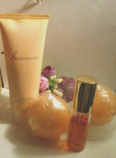 """Avon """"Incandessence"""" Radiant Beauty gift set:Perfume,Body Lotion,2 candles&plate"""
