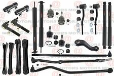 Tie Rod Control Arm Ball joints Sway Bar Link Shocks For Jeep 5.2L 2WD 4WD 93-98