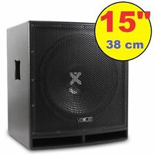 "SUBWOOFER AMPLIFICATO ATTIVO KTV 800W serie pro WOOFER 38 CM (15"") CASSA DJ LIVE"