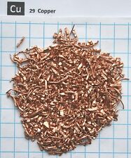 80 gram Copper metal shavings 99,92% pure element 29 sample
