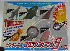 Thunderbirds Bandai Thunderbirds Are Go Set of 6 Diecast/Plastic BNIB from Japan