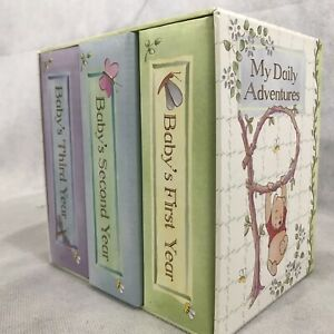 Classic Winnie the Pooh Baby Photo Library 3 Album Set Wooden Stand 4x6
