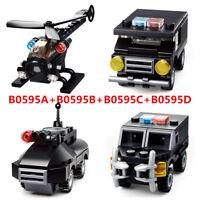 4 Set Sluban DIY Kids Building Blocks Toys Puzzle Military Vehicles B0595