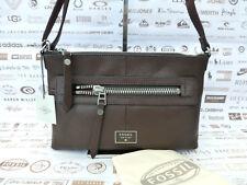 FOSSIL Handbag Ladies DAWSON Shoulder Bag Espresso Leather Crossbody Bags RP£109