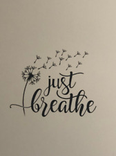 Just Breathe Dandelion Home Wall Decor Wall Murals Quote Decal Sticker