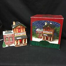 Dick Dottie's Country Store Christmas Valley Village Lighted Porcelain Building