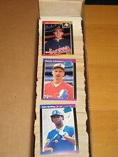 1989 DONRUSS BASEBAL 660 CARD SET + 26 MVP + Warren Spahn Puzzle - Griffey jr RC