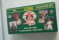 New 1991 Vintage-Score Baseball Complete 900 Card Collector Set Factory Sealed
