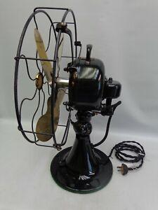 "Antique Emerson fan 12"" brass blade Oscillating Vintage 1922 older restoration"