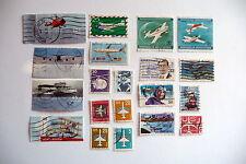 20 diverse Briefmarken Motiv Flugzeuge, Luftfahrt, verschiedene Länder, Set 5