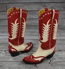 Women's Ralph Lauren Purple Label Patrice Leather Cowboy Western Boots 7 New