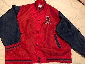 Vintage Anaheim Angels MLB Satin Varsity Jacket Men Size XL Blemished S20