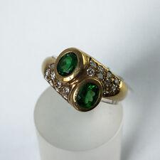 Tsavorit Ring Gold 585/- Handarbeit Idar Oberstein Garnet Tsavorite Granat