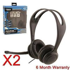 2X Komodo Live Chat Headset For PS4 Playstation 4 NEW BLACK