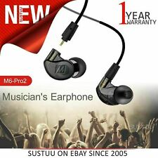 MEE Audio M6PRO 2nd Gen Musicians In Earphone│Handsfree│Cable+Case│Black