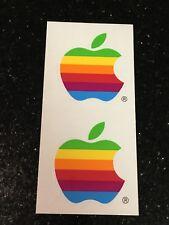 Apple Computer Logo Multi Color Stickers Vintage Rainbow Steve Jobs