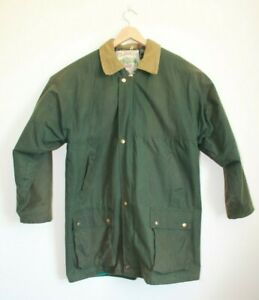 Vintage Reindeer International Green Wax Waxed Jacket Size Large Outdoor Country