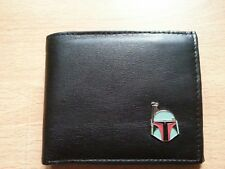 Boba Fett wallet Star Wars genuine leather new quality metal badge bi-fold gift