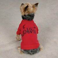 Red Lil' Devil Dog Tee by Zack & Zoey Polyester/Cotton, XX-Small (8 Inch Long)