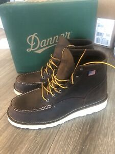 New Danner Boots Men's 6��� Bull Run Moc Toe Brown 15563 Sizes 12 D Made In USA