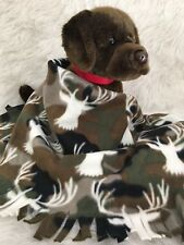 Camouflage Holiday Deer Fuzee Fleece Dog Blankets, Soft Pet Blanket cover