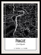 PRAGUE CITY MAP POSTER PRINT MODERN CONTEMPORARY CITIES TRAVEL IKEA FRAMES