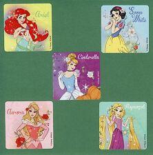 10 Disney Princesses Large Stickers - Rapunzel, Aurora, Ariel, Snow White