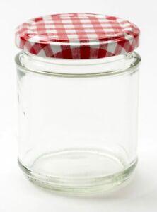 24x Round Glass Jam Jars + Lids | Multiple Colours: 314ml 12oz - KegThat