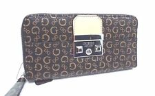 GUESS Wallet *Zena SLG* Zip Around Natural w/ G Logo Clutch New