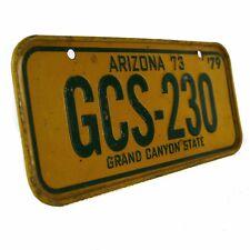 1979 Arizona Grand Canyon Cereal Premium Kids Bike Mini License Plate Vintage