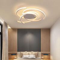 White Modern LED Ceiling Lamp Dimmable Bedroom Kitchen Decor Lighting Fixtures