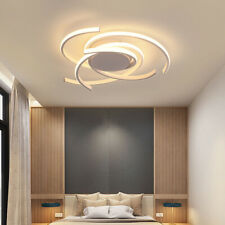 White Modern LED Ceiling Lamp Dimmable Bedroom Kitchen Decor Lighting Fixtures