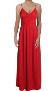 NEW!SALE! Ax Paris Womens Red Lace Evening Maxi Formal Dress Gown  UK 12