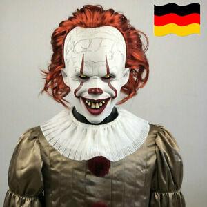 Joker Pennywise Maske Stephen König Horror Cosplay Latex Masken Clown Halloween
