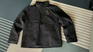 Tumi T-Tech Mens Size L Black Wool Blend Jacket With Concealed Hood Waterproof