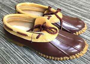 CHRIS CRAFT Duck Gardening Boots Shoes Footwear Brown Leather Rain Clogs Sz 8