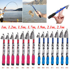 Portable Carbon Fiber Superhard Travel Telescopic Fishing Rod Sea Spinning Pole