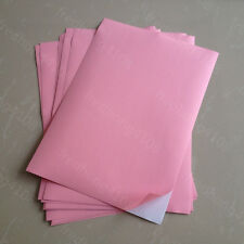 50 Sheet Light Pink A4 Matte Self Adhesive Label Sticker Printer Paper