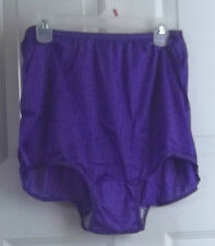 LOT 4 NYLON BRIEF PANTIES BRIGHT PURPLE, GREEN, PINK, WHITE PLUS SIZE 20
