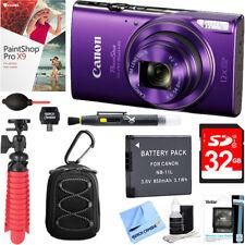 Canon PowerShot ELPH 360 HS Digital Camera (Purple) + 32GB Deluxe Accessory Kit
