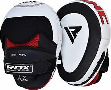 RDX Leather Focus Pads Hooks & Jab MMA Kickboxing Curved Mitts Gloves Strike CA
