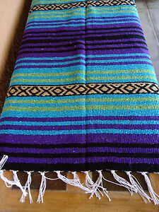 Peyote Serape Blanket ONWPT-13 Southwest Southwestern Mexican Afghan