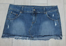 Taunt Mini Skirt Denim Size 13 Distressed Frayed Bottom