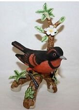 Danbury Mint Varied Thrush From 12 Songbird Collection Figurines Porcelain