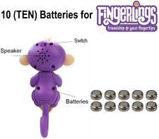 NEW 10 Maxell LR44 Fingerlings Replacement Batteries WowWee Monkey Unicorn Sloth