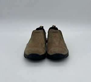 Merrell Jungle Moc Slip-On Shoes Dark Brown Suede Leather Youth Size 2 Casual