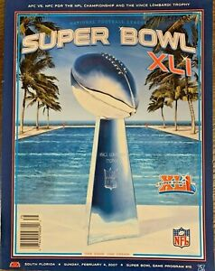 Super Bowl XLI Chicago Bears vs Indianapolis colts Game program!