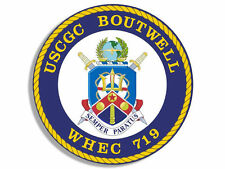 "4"" uscgc coast guard boutwell WHEC-719 seal sticker decal"